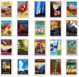 50 USA Vintage Travel Postcards.JPG