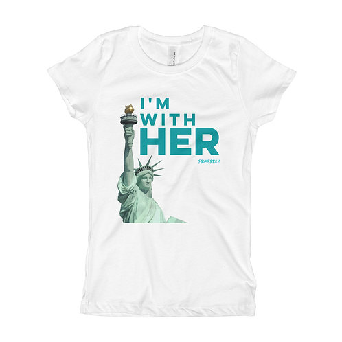 I'm with Her, Girls Shirt