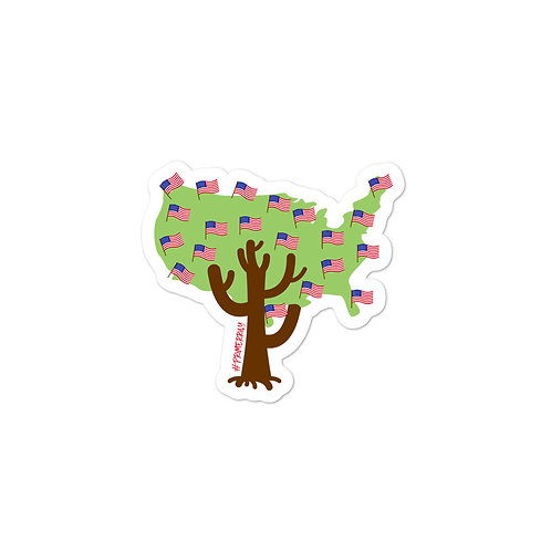 American Family Tree Sticker