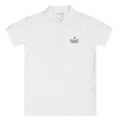 Logo Embroidered Polo Shirt, Women's
