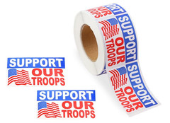 Support Our Troops Stickers, 250 pc.JPG