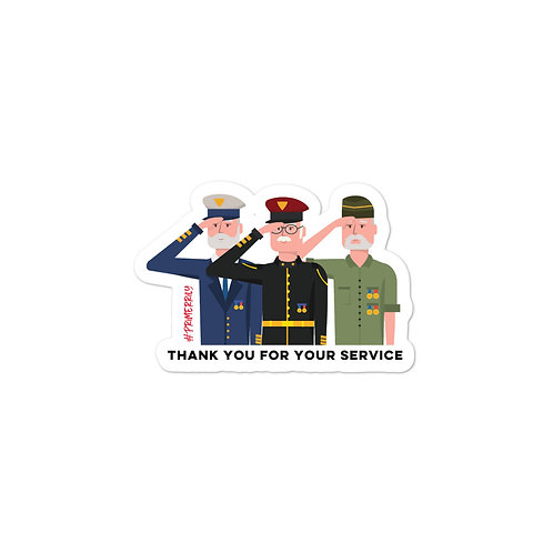 Thank You for Your Service Sticker