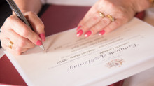 Use of names in wedding ceremonies - and what to sign?