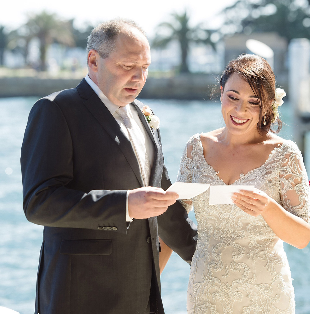 Peter and Melanie - Oct 2018 - Our beautiful harbour in the background