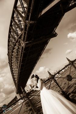 Bride Kelly under the Harbour Bridge