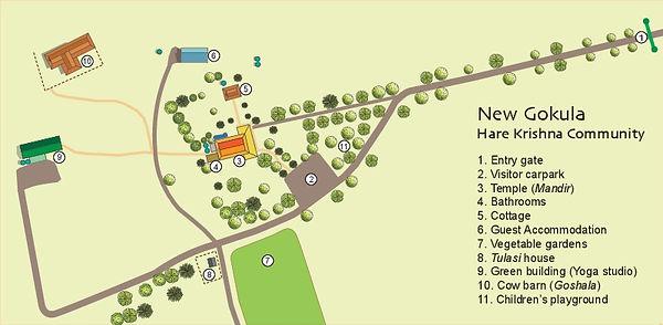 New Gokula Illustrated Map