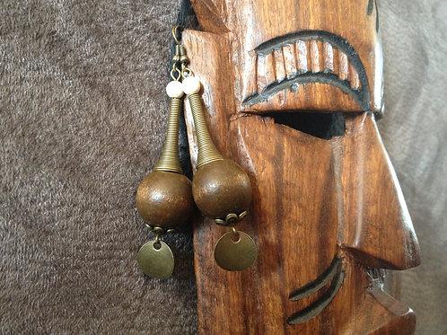 Boucles d'oreilles femme girafe