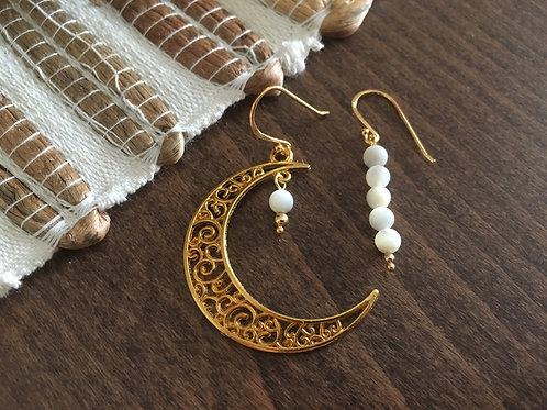 Boucles d'oreilles Lune - Vermeil