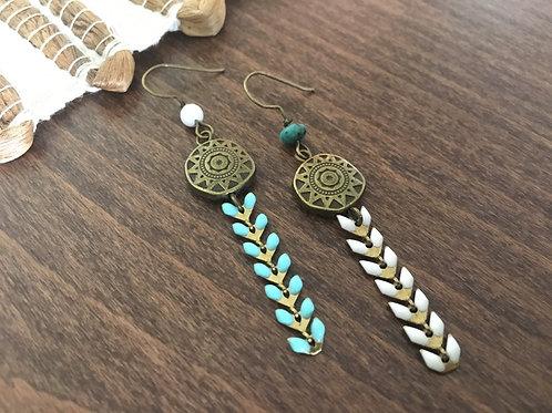 Boucles d'oreilles Epi & Turquoise