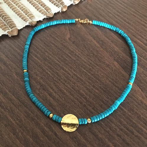 Collier Samadhi en Turquoise - Vermeil