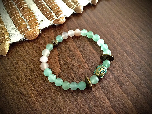 Bracelet Aventurine et Bouddha