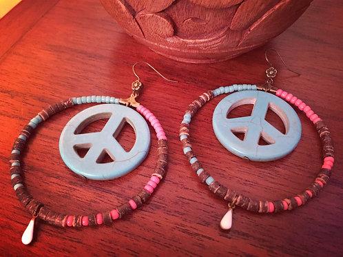 Boucles d'oreilles bohèmes Peace & Love