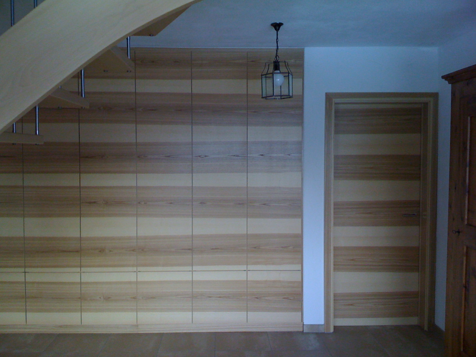 Mure et porte bois
