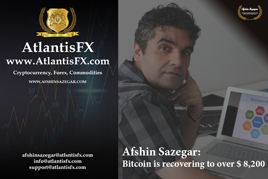 Afshin Sazegar   Bitcoin is recovering to over $ 8,200