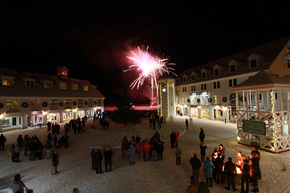 Fireworks in Town Square Waterville Valley