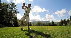 golfer in Waterville Valley