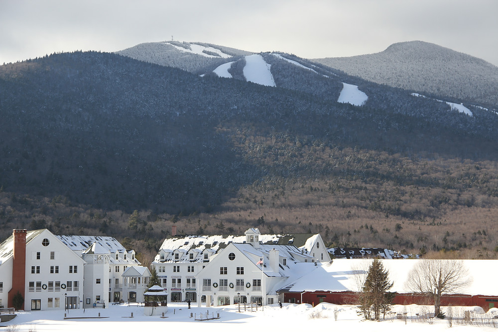 Town Square in Waterville Valley winter
