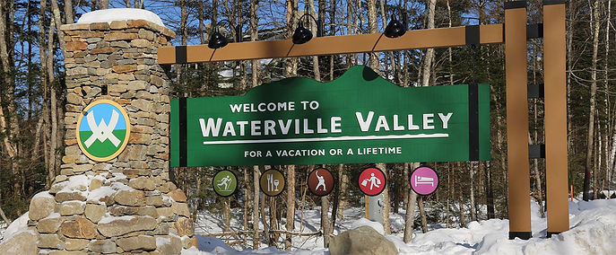 Welcome to Waterville Valley sign