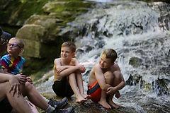 Cascades Waterfall in Waterville Valley