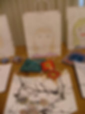 Children's drawings that they made in arts camp