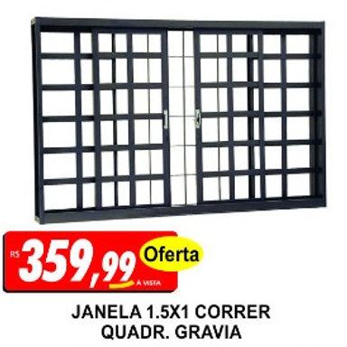 Janela Correr 1,50x1,00