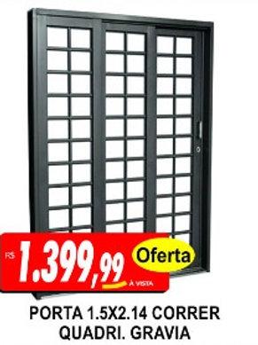Porta 1,50m x 2,14m