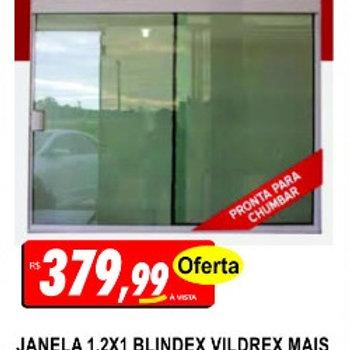 Janela Blindex 1,20x1,00