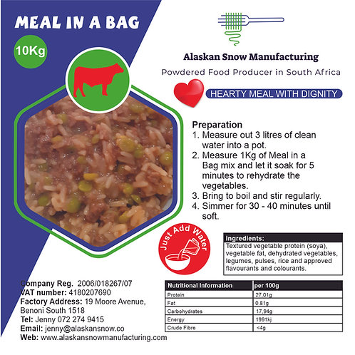 Meal in a Bag - Beef