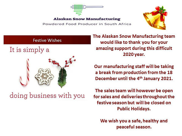 The Alaskan Snow Manufacturing team woul