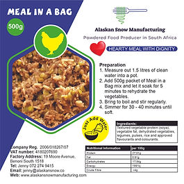 Chicken Meal in a Bag 500g Alaskan Snow.