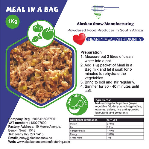 Meal in a Bag  vegetable 1Kg