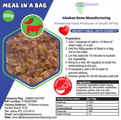 Chilli beef label