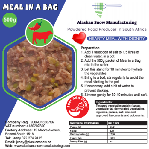 Meal in a Bag - Chilli Beef