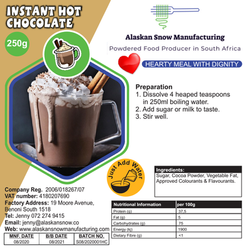 hot choc plain 250g