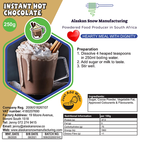 Plain Hot chocolate powder