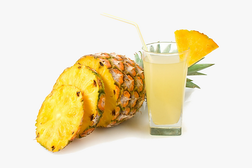 Cold fruit drink powder pineapple