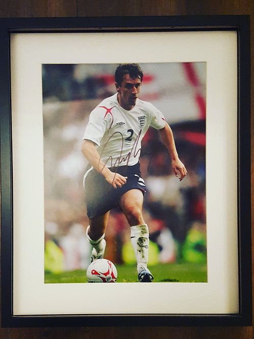 Gary Neville Hand Signed Photograph