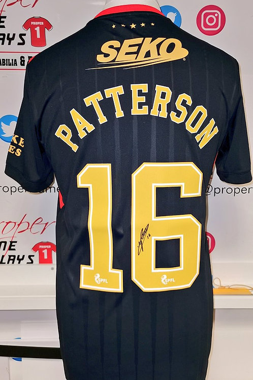 Nathan Patterson signed Rangers shirt
