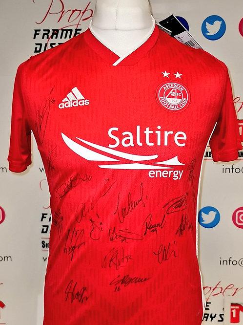 Squad signed Aberdeen shirt