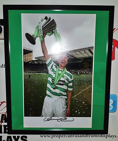 """Henrik Larsson """"King of Kings"""" Signed print"""
