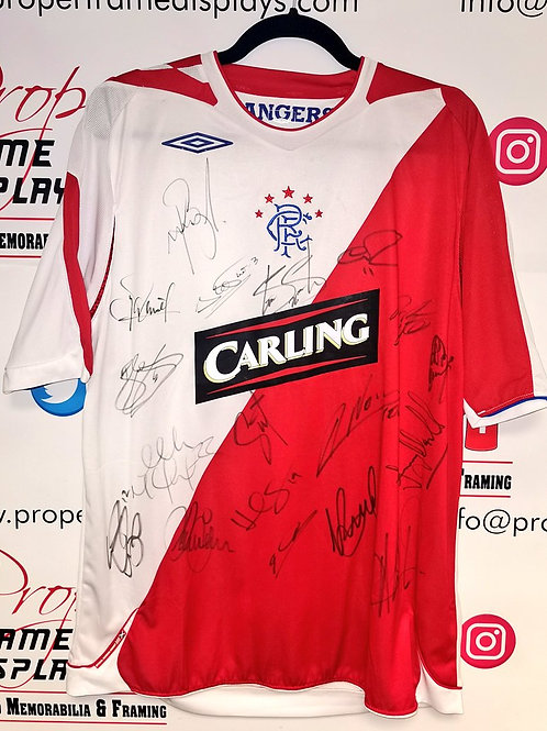 Squad signed Rangers shirt