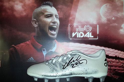 Arturo Vidal signed football boot