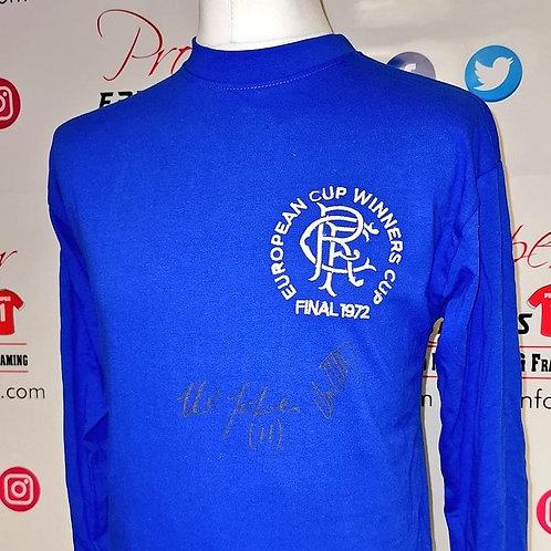 Stein & Johnston signed Rangers CWC shirt