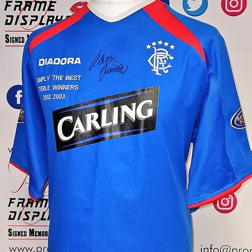 Walter Smith signed Rangers shirt