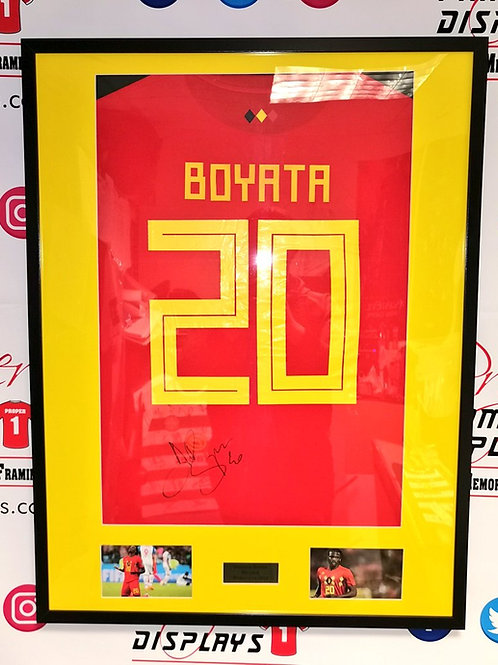 Dedryk Boyata signed Belgium World Cup 2018 shirt