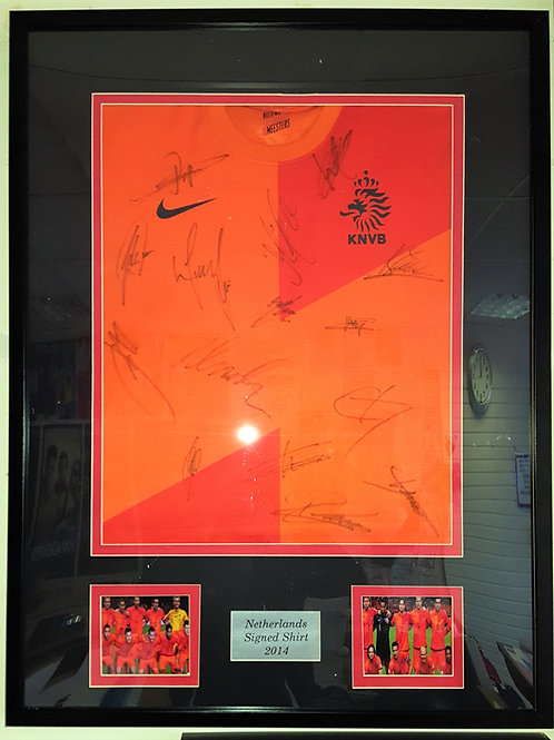Netherlands Home Shirt 2014 Signed by Various Players