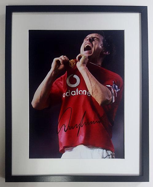 Gary Neville Signed Photo
