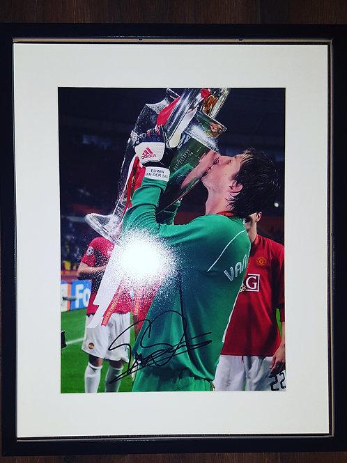 Van Der Sar Hand Signed Photograph