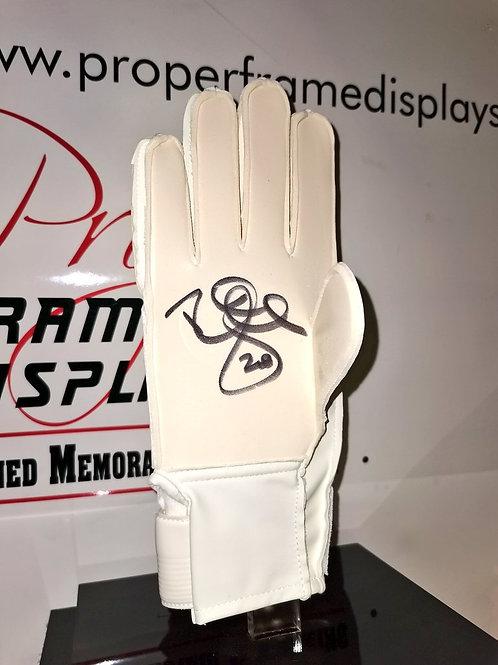 Rab Douglas signed Sells goalkeeper glove
