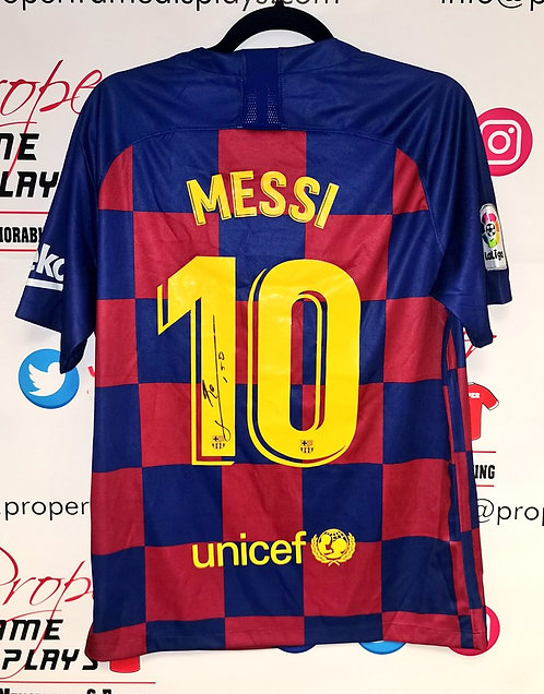 Lionel Messi signed shirt